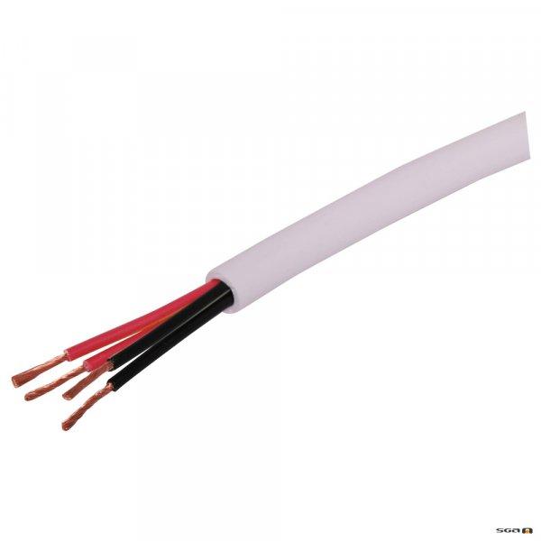 w3126 200m. 4 Core 65/0.14 Hi-Fi Speaker Cable Wht
