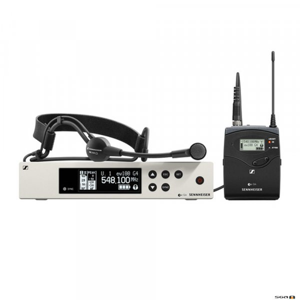 Sennheiser EW100 G4-ME3 versatile wireless system w/bodypack transmitter and ME 3-II headmic