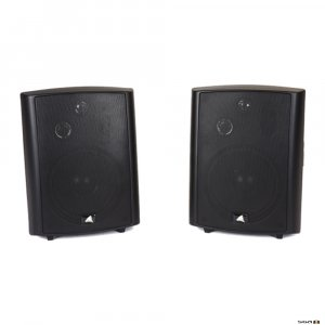 The Australian Monitor AMPAV40B is a self powered three-way stereo speaker system consisting of one powered and one passive speaker.