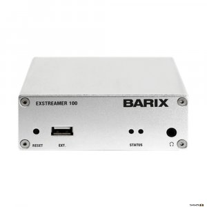 The Exstreamer 100 series is a family of products decode IP Audio streams and play out the received Audio signal to amplifiers