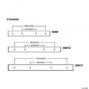 The Australian Monitor XDS12UB U Bracket For XDS12