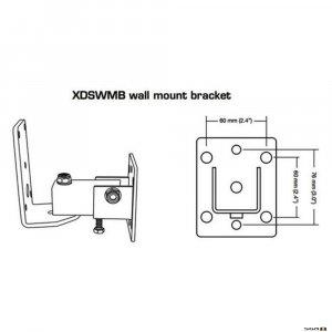 The Australian Monitor XDSWMB wall bracket kit